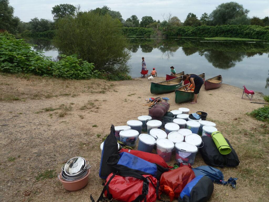 Bilder unserer Fahrt auf der Loire 2017